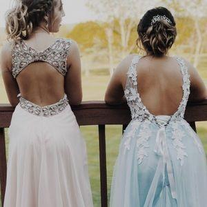 Prom dress baby pink